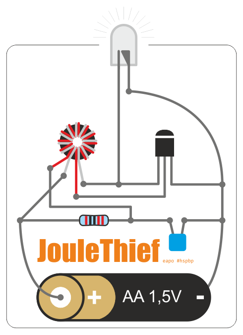 Joule Thief circuit for dummies
