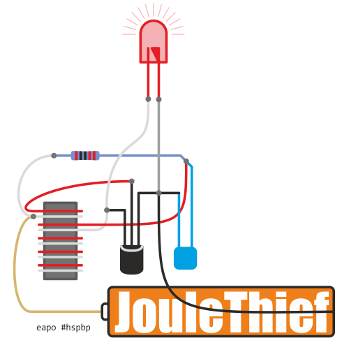 eaposztrof's Joule Thief concept